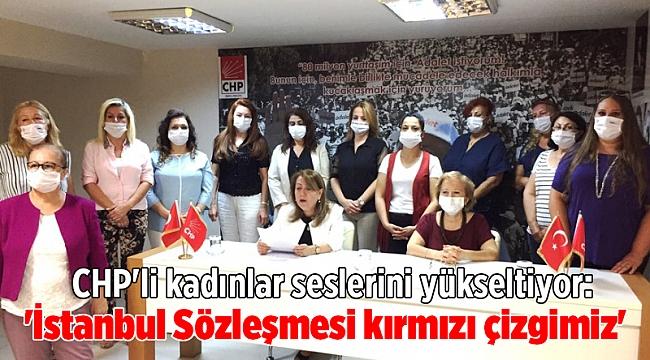 CHP'li kadınlar seslerini yükseltiyor: 'İstanbul Sözleşmesi kırmızı çizgimiz'