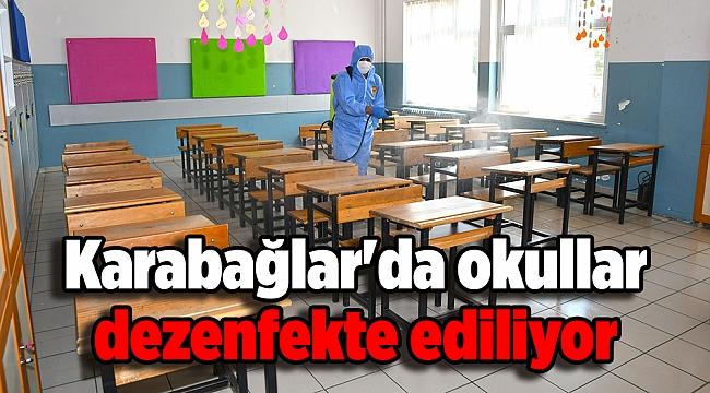 Karabağlar'da okullar dezenfekte ediliyor