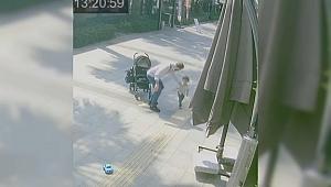 Vicdansız baba bebek arabasından düşen çocuğunu...