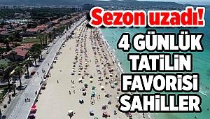 4 günlük tatilin favorisi sahiller