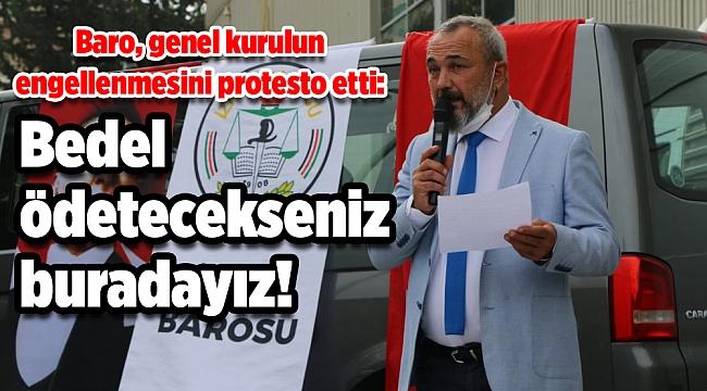 Baro, genel kurulun engellenmesini protesto etti: Bedel ödetecekseniz buradayız!