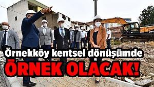 Başkan Soyer Örnekköy ikinci etap çalışmalarını inceledi