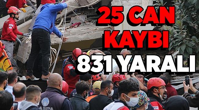 Depremde 25 kişi hayatını kaybetti