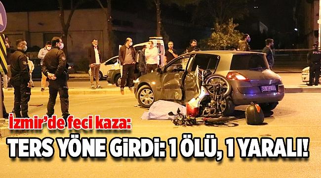 Feci kaza: Ters yöne giren motosikletli hayatını kaybetti!