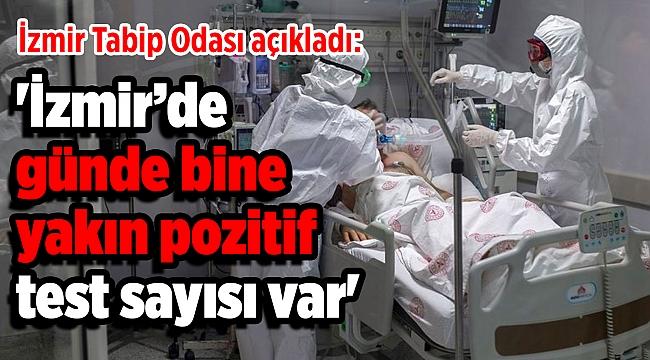 'İzmir'de günde bine yakın pozitif test sayısı var'