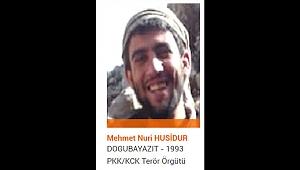 Turuncu kategoride aranan terörist Mehmet Nuri Husidur etkisiz hale getirildi