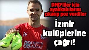 DMD'liler için ayakkabılarını çıkarıp poz verdiler: İzmir kulüplerine çağrı!