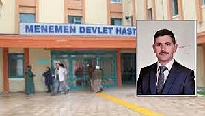 Menemen'de Meclis üyesi çatıdan düştü