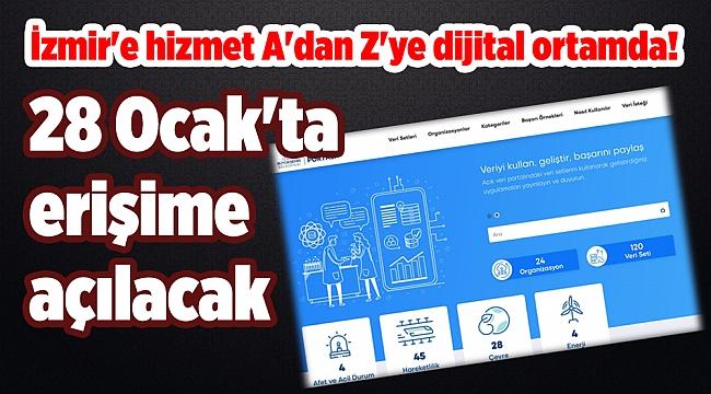 28 Ocak'ta erişime açılacak: İzmir'e hizmet A'dan Z'ye dijital ortamda!