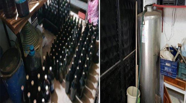 550 litre sahte içki ele geçirildi