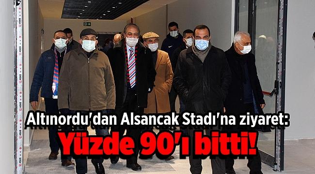 Altınordu'dan Alsancak Stadı'na ziyaret: Yüzde 90'ı bitti!