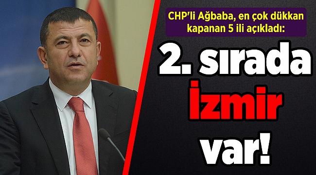 CHP'li Ağbaba, en çok dükkan kapanan 5 ili açıkladı: 2. sırada İzmir var!