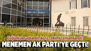Menemen'de yeterli çoğunluk sağlandı! Kuradan AK Parti adayı çıktı