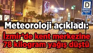 Meteoroloji açıkladı: İzmir'de kent merkezine 78 kilogram yağış düştü