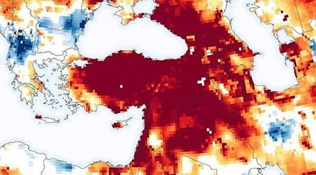 NASA'dan Türkiye paylaşımı! Kuraklık uyarısı