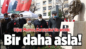 Uğur Mumcu Karşıyaka'da anıldı: Bir daha asla!
