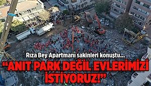 Anıt Park değil evlerimizi istiyoruz!