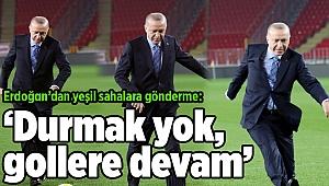 Erdoğan, Gürsel Aksel Stadı'nı inceledi