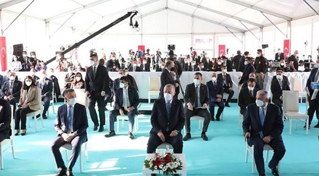 Erdoğan'ın katıldığı açılışta dikkat çeken hitap biçimi...