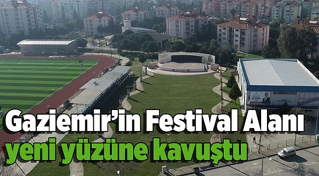 Gaziemir'in Festival Alanı yeni yüzüne kavuştu