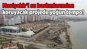 Mavişehir'i su baskınlarından koruyacak projede yoğun tempo!