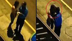 Polisten sokağa çıkma yasağını ihlal eden kadına öpücük! TIKLA - İZLE
