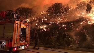Dağlık alanda çıkan yangın korkuttu