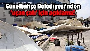 Güzelbahçe Belediyesi'nden 'uçan çatı' için açıklama!