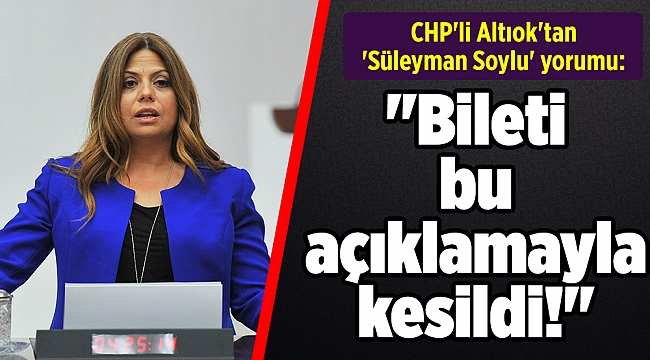 CHP'li Altıok'tan 'Süleyman Soylu' yorumu: