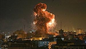 İsrail'den Gazze'nin çeşitli noktalarına yoğun saldırı