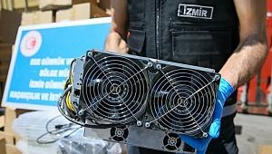 İzmir'de kripto para üretim makinası yakalandı