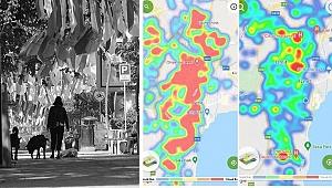 Kocaeli'de koronavirüs vaka sayılarındaki düşüş risk haritasına yansıdı