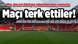 Maç öncesi Göztepe yönetiminden protesto: Maçı terk ettiler!