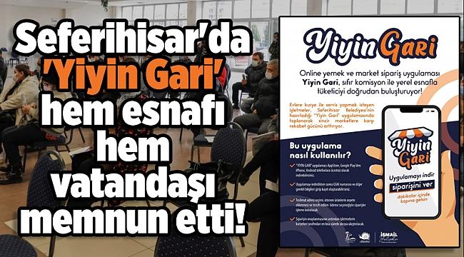 Seferihisar'da 'Yiyin Gari' hem esnafı hem vatandaşı memnun etti!
