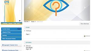 Ege'den göz hastalıkları alanında İngilizce bilimsel dergi