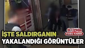 HDP binasına saldıran Onur Gencer'in etkisiz hale getirildiği anların görüntüsü