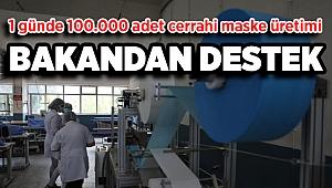 İzmir'de cerrahi maske üreten meslek lisesi, günlük 100 bin adetlik kapasiteye ulaştı