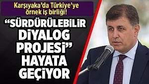 """Karşıyaka'da Türkiye'ye örnek iş birliği!  """"Sürdürülebilir Diyalog Projesi"""" hayata geçiyor"""