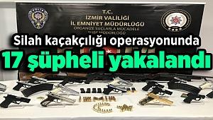 Silah kaçakçılığı operasyonunda 17 şüpheli yakalandı