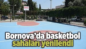 Bornova'da basketbol sahaları yenilendi