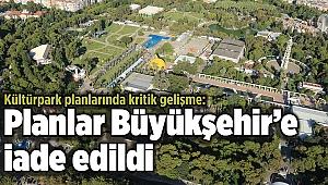 Kültürpark planlarında kritik gelişme: Planlar Büyükşehir'e iade edildi