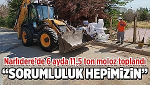 Narlıdere'de 6 ayda 11,5 ton moloz toplandı