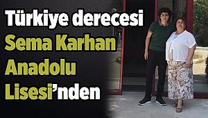 Türkiye derecesi Sema Karhan Anadolu Lisesi'nden