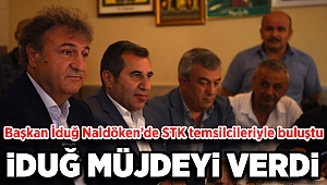 Başkan İduğ Naldöken'de STK temsilcileriyle buluştu