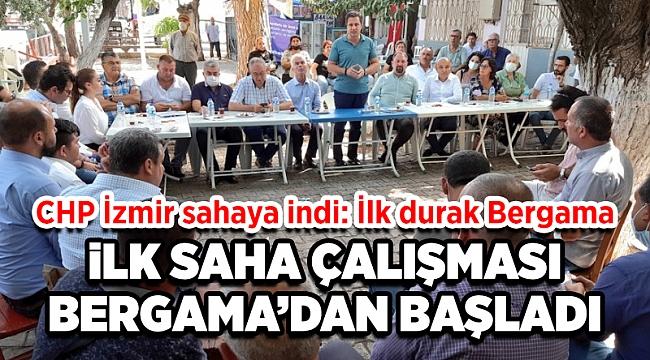 CHP İzmir sahaya indi: İlk durak Bergama