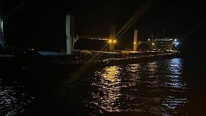 Çanakkale Boğazı açıklarında korkutan gemi kazası