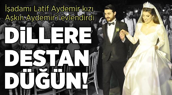 İşadamı Latif Aydemir kızı Aşkın Aydemir'i evlendirdi... DİLLERE DESTAN DÜĞÜN!