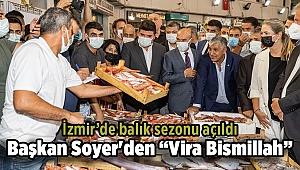 İzmir'in balık hali doldu taştı: Başkan Soyer barbun ve levrek aldı