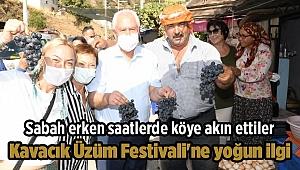 Kavacık Üzüm Festivali'ne yoğun ilgi