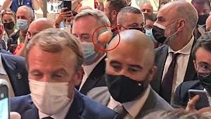 Macron'a Lyon ziyaretinde yumurta fırlatıldı